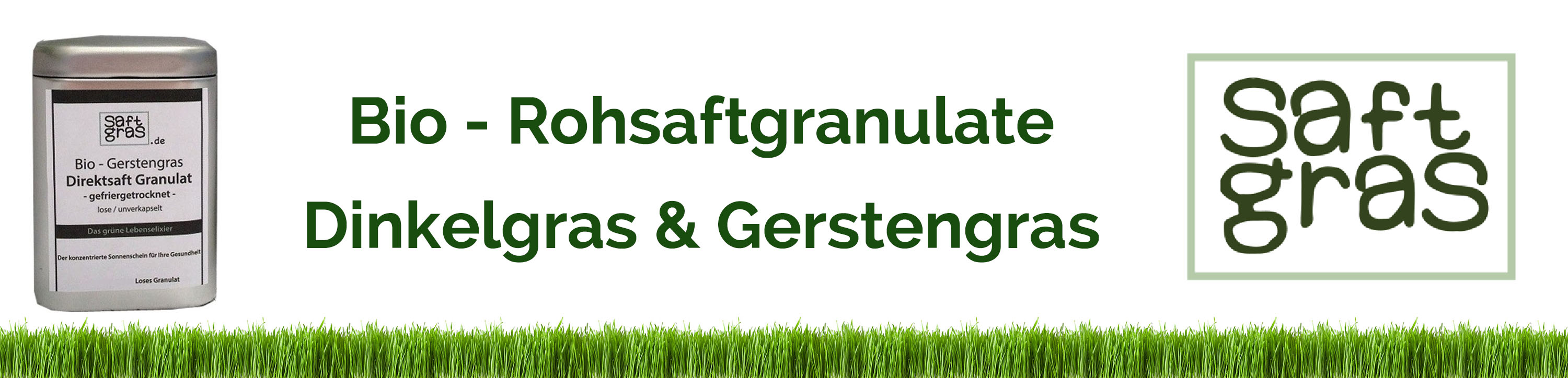 Saftgras Rohsaftgranulate Gerstensaft Dinkelsaft