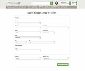 EM Kaufhaus Kundenkonto